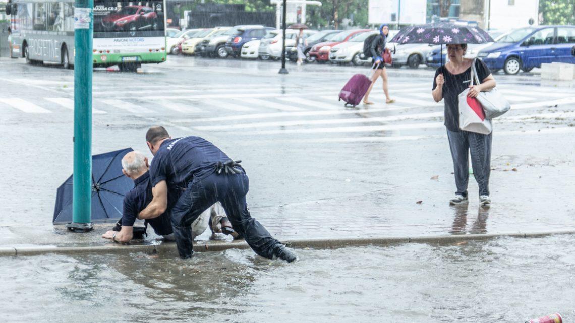 Alluvione di Pescara. La mia foto in prima pagina su Il Centro
